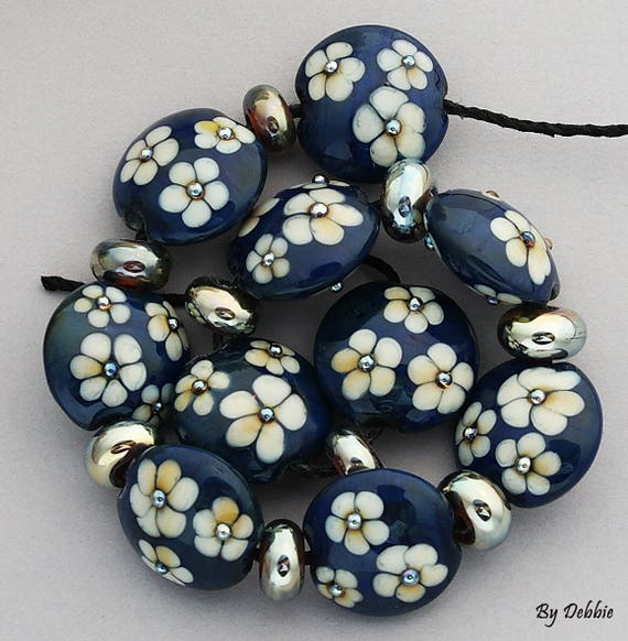 Lampwork Beads Glass Beads Statement Necklace Beads For Jewelry Supplies For Jewelry Beads Bracelet Bead Necklace Flower Bead Debbie Sanders
