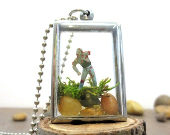 My Very Own Little Zombie,  His Name Was Skeeter....Zombie Terrarium Zombie Gift Zombie Pets Undead Zombie Apocalypse Walking Dead