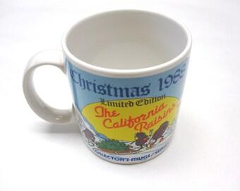 California Rasins Cup Mug 1988 Christmas Series 1