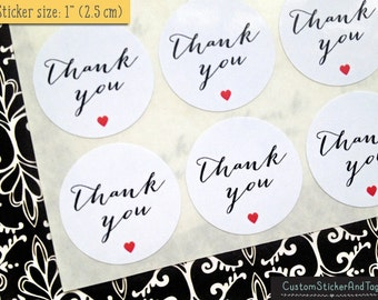63 thank you stickers, wedding stickers, favor sticker, round stickers, modern calligraphy, envelope seals, mini stickers (S-141)
