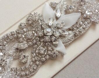 Bridal Sash - Ofelia 14 inches  (Made to Order)