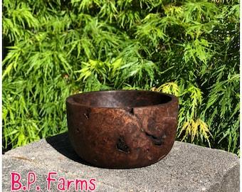 Medium Sized Walnut Burl Bowl - #37