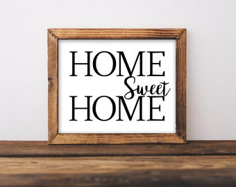 HOME SWEET HOME print - Farmhouse printable - farmhouse decor - farmhouse wall art- fixer upper decor wall art - farmhouse decor printable