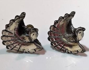 20% Off Sale Pair Sterling Silver Frank Rebajes Earrings Quail Ptarmigan Wild Birds Mid Century Modern #B970