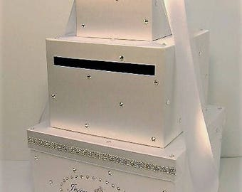 Wedding Card Box White Gift card box Money Card Box Holder-Customize your color