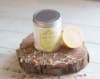 Shine Bright Soy Candle//8oz//Hand Poured//Lemon//Orange//Lemongrass
