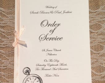 Order of Service, Wedding booklet Alice in Wonderland!