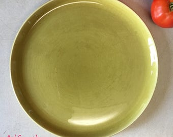 Russel Wright American Modern chartreuse dinner plate