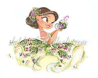 Miss Vintage Dress - May Mini Fine Art Print