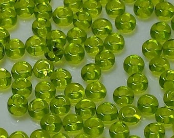 Lime Green Vintage Seed Beads