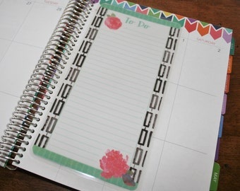 Dashboard (Size B), Coil Clip In, Laminated, Double Sided  / Erin Condren Life Planner, Limelife, Plum Paper (B20)