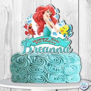 The Little Mermaid Cake Topper, The Little Mermaid Centerpiece, Princess Ariel Cake Topper, Ariel Cake Topper