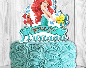 Ariel cake topper Etsy
