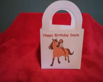 Spirit Running Free Personalized Birthday party goody / favor bags set of 12
