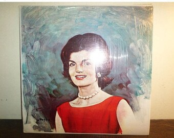 Exceptionally Scarce 1964 Jacqueline Kennedy LP Record with Fazzio Paste Over Cover Near Mint Condition 10556
