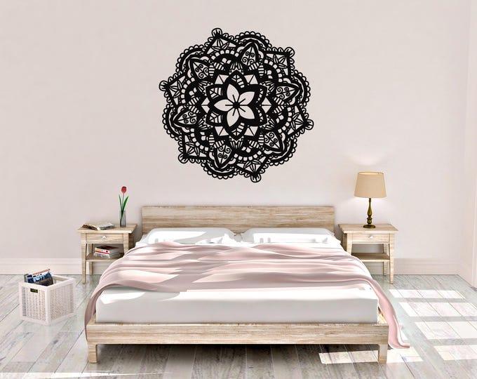Flower Mandala Wall Decal - Mandala Wall Decor - Vinyl Wall Decal - Flower Mandala - Mandala Decals - Home Decor - Mandala Wall Art
