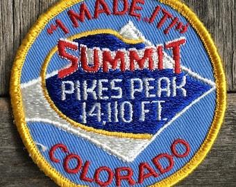 Pikes Peak Summit Colorado Vintage Souvenir Travel Patch, a Trailblazer Emblems by B&B Enterprises
