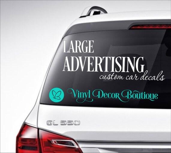 Large advertising custom car decal vinyl lettering bumper sticker custom personalized car decal