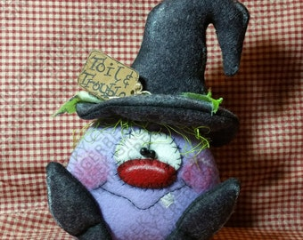 Toil and Trouble Witch Pattern #183 - Primitive Doll Pattern