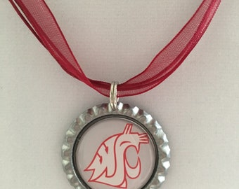 Washington State University COUGARS Handmade Necklace