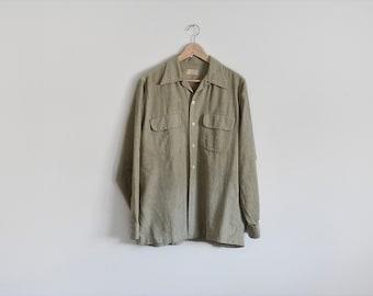 vintage mens British workwear shirt // size M