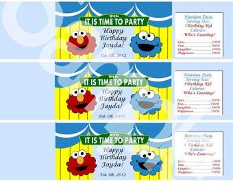 Sesame Street Inspired Water Bottle Wrappers-DIGITAL-check out the matching items in my shop