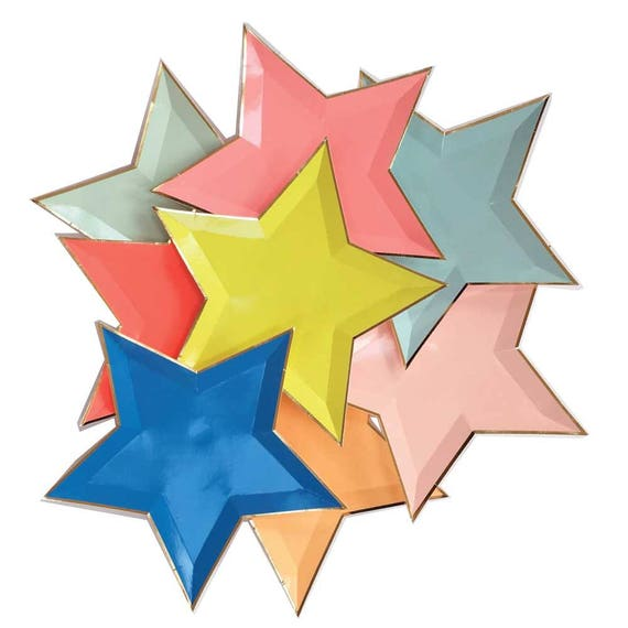 sc 1 st  Etsy : star shaped paper plates - pezcame.com