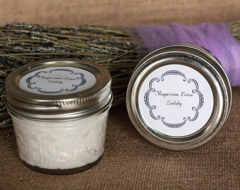 Magnesium lotion infused with lavender