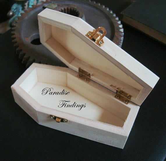 1 Coffin Wood Box Coffin Stash Box Jewelry Box Gift Box Endless