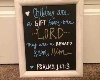 Mother's Day Chalkboard Bible Verse About Children Gift For Mother