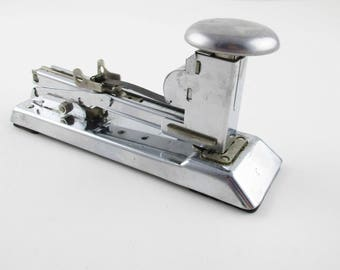 A 'Pilot' Stapler - Chrome Stapler - Pilot Model No. 404 - Industrial Chic - Ace Fastener Corp., Chicago - Office, Den, Collectible