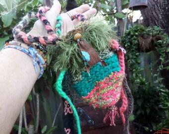 Boho pouch, Festival Bag, Hippie pouch, E06, hippie festival, rune pouch, crystal pouch, coin pouch, coin purse, boho purse, festival purse