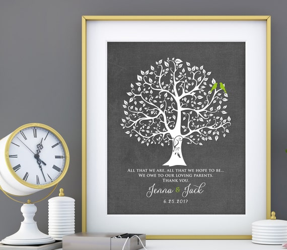 Mother In Law Gifts Wedding: Personalized Wedding Gift For Mother In Law Father In Law