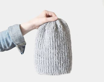 KNITTING PATTERN • Hat Knitting Pattern • Knit Beanie Pattern