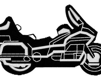 Motorcycle Embroidery File
