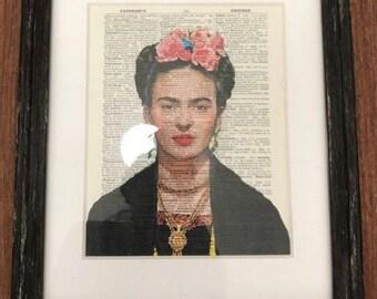 Frida Kahlo mixed media framed art print *Brand New