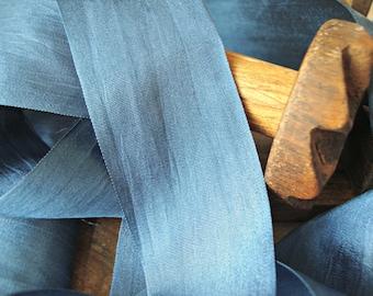 Dark Blue Silk Ribbon