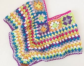 Crochet poncho for girls in 100% high quality cotton yarn | size 4-6 years