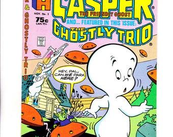 HARVEY, Casper the friendly ghost #1  vf/nm  + Free Stock Certificate