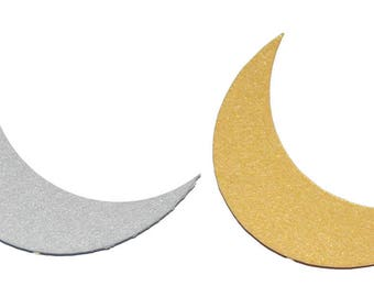 Crescent Moon Metallic Cardstock Cut-Outs (24 pack)
