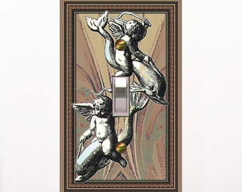 0279A- Angels - Dolphins Retro light switch plate cover-mrs butler switchplates - choose sizes / prices from drop down box-mix/match w/0279b