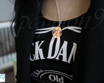Luminous DANDELION / Dandelion Seeds / GLOW in the DARK  / Glow Yellow Orange / Dandelion Necklace / Glow Dandelion Seeds /