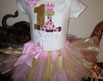 Custom Giraffe Tutu set