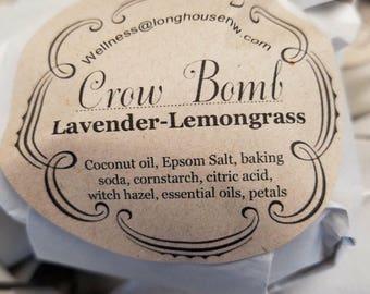 Lavender-Lemongrass Effervescent Bathing Spheres (bath bombs)