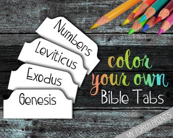 Bible Tabs, Bible tabs printable, bible tabs download, color your own, bible journal tabs, bible journaling printable, printable tabs, blank