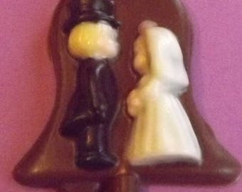 Bride and Groom Chocolate Candy Lollipop
