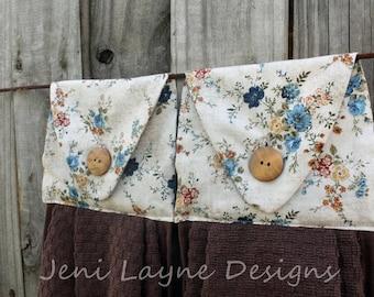 Hanging Kitchen Towel- set of 2   Hanging towels, Kitchen towels, Kitchen linens, floral towels, gift under 20