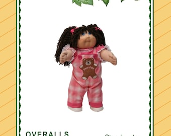 "Overalls and Blouse Pattern for 16"" vintage cabbage patch kids dolls - {Download, Print, Sew}"