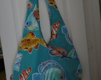 Large LuLu bag with 3 compartments and 2 interior pockets for shopping, beach, or travel