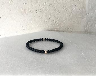 1206 Bracelet - Small Matte Black Onyx Stretch Bracelet